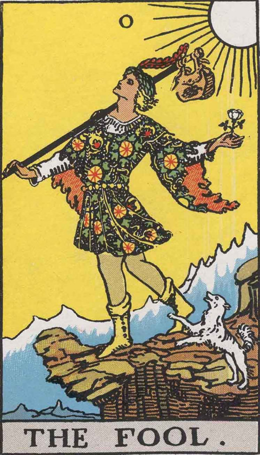 The Fool represents new beginnings, especially when it comes to blindly following a path and taking risks.