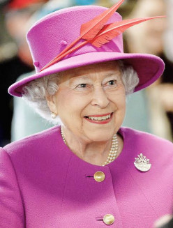 Today the Queen of Britain used to change the wheels of trucks.