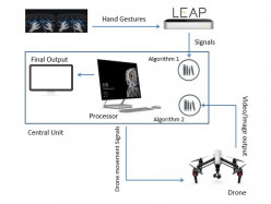 Gesture Control Drone for Crowd Analysis