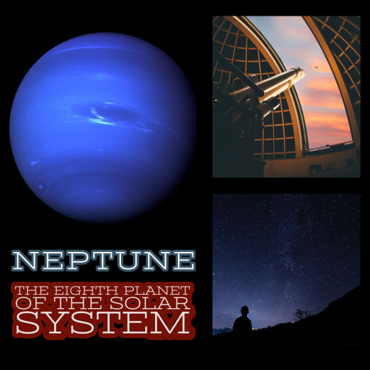 Neptune: The eighth planet of the solar system, and most distant planetary object from the Sun.