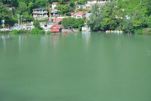 Naina Temple on The Bank Of Naina Lake