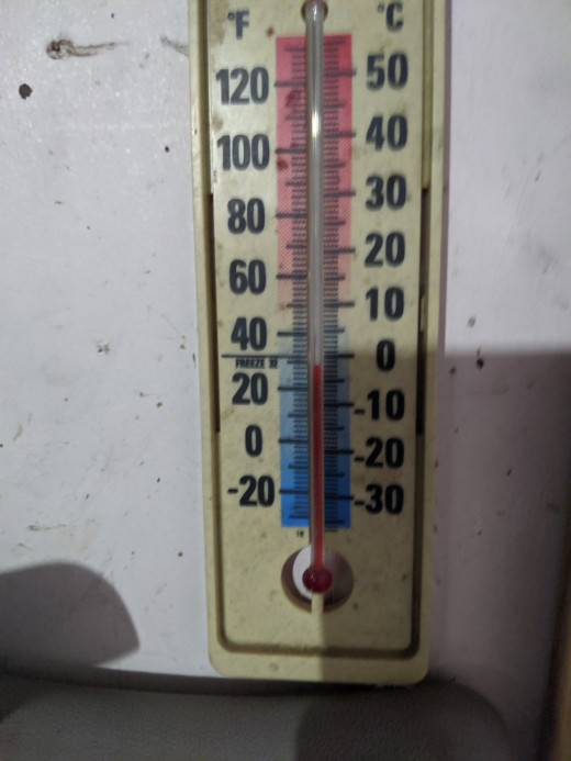 Temp in garage is cold...