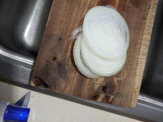 Slice onion thin