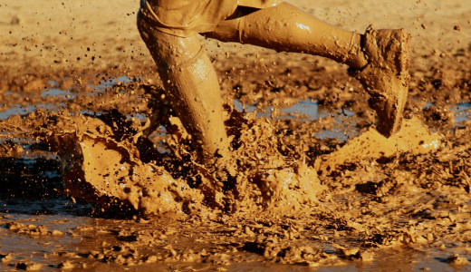 Running in mud, Image by David Mark from Pixabay