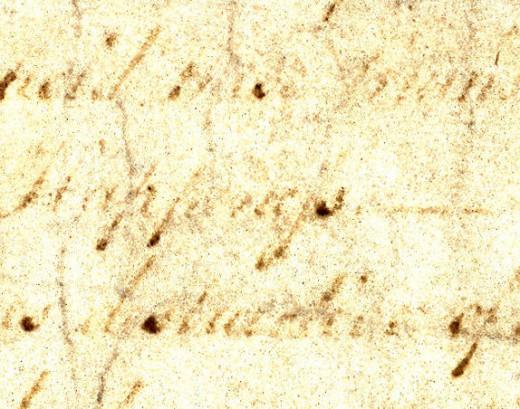 The Congressional parchment, image contrast enhanced.