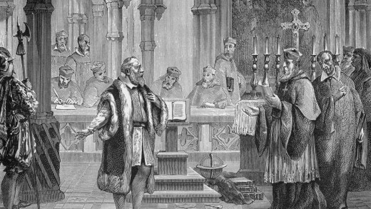 April 12th, 1633, Chief inquisitor Father Vincenzo Maculani da Firenzuola, appointed by Pope Urban VIII, begins the inquisition of physicist and astronomer Galileo Galilei