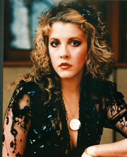 Stevie Nicks posing in the 1980s.
