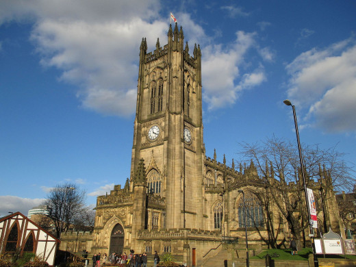 Cathedral church of SS Mary, Denys and George, Manchester, England