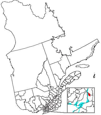 Map location of Boucherville, Quebec