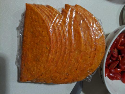 Nacho cheese hard shell taco shells