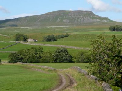 First on the way - Pen-y-Ghent can be seen from the cafe along the road north. Limited parking space available, but much more space along the road at the public car park