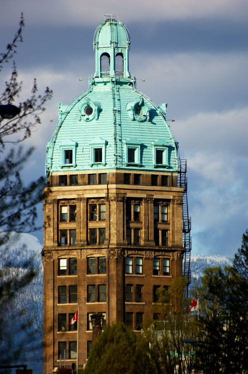 Top floors of the Sun Tower in Vancouver British Columbia.