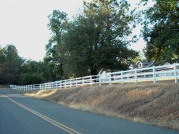 White fence.. no paint.