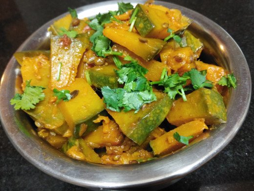 Sweet and spicy pumpkin fry