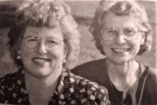 Joyce Hutchison (left) and Joyce Rupp (right)
