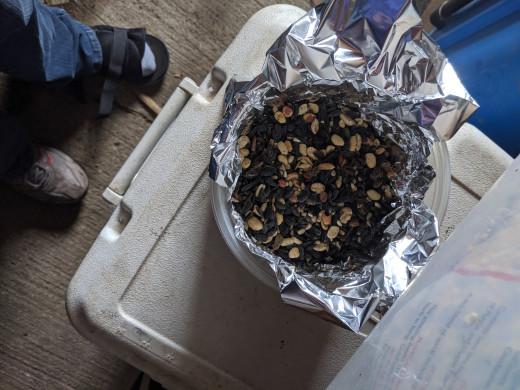 Seeds in foil