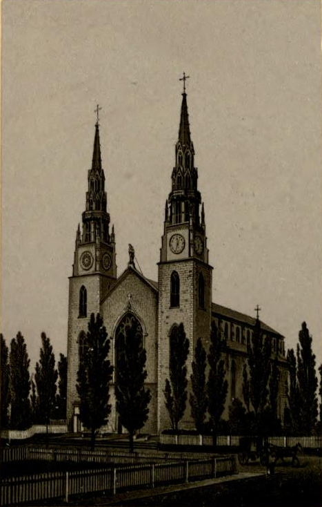 Cathedral of Notre Dame in book Views of Ottawa (1884), J. Hope & Co.