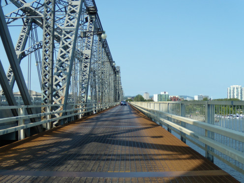 Alexandra Bridge spanning Ottawa, Ontario and Gatineau, Quebec