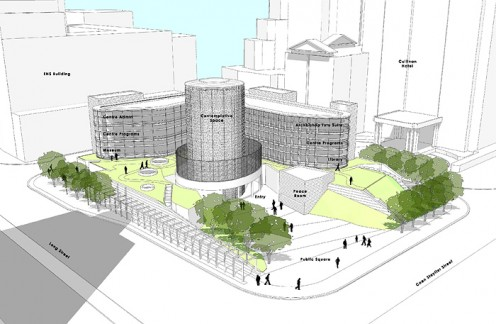 The Desmond Tutu Peace Centre building as it will look. It will be located in Cape Town. Image from the website of the DTPC