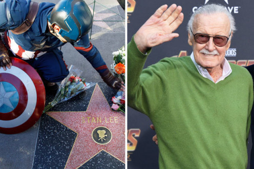 Stan Lee star on Hollywood Walk of Fame