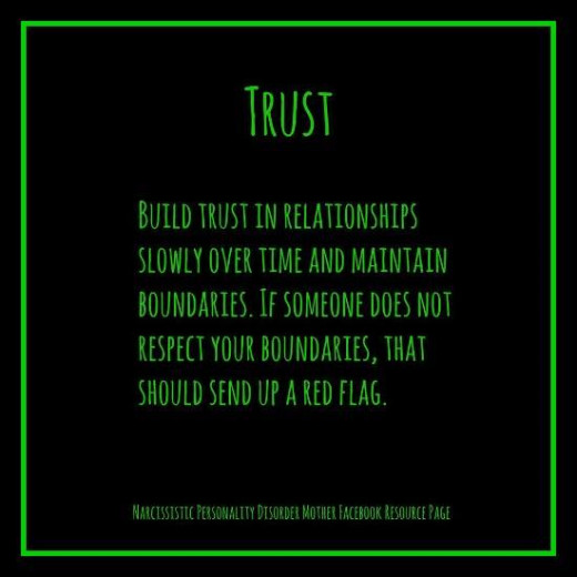 Trust - always listen to the Holy Spirit, or your intuition even if you can't figure out the logistics of why.