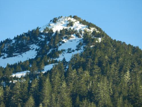Deer Mountain;  this image was taken in Ketchikan, Alaska on January 17, 2019