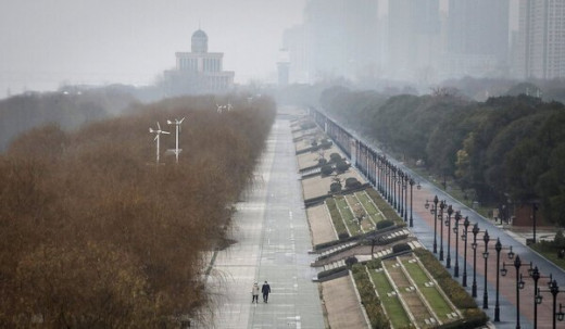 Wuhan (located in central China) appears to be almost like a ghost town, despite its population of 11 million.