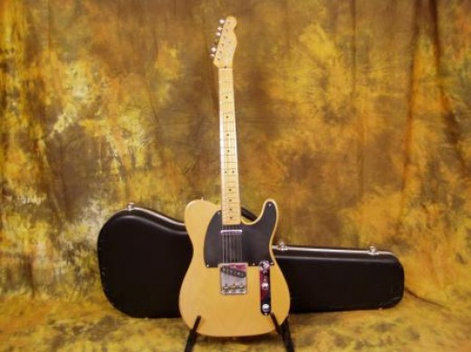 With it's classic butterscotch blonde finish toped off with a black pickguard, this is by far the most loved model Tele. This is what all true Tele's should sound like. One piece maple neck with a maple fretboard.