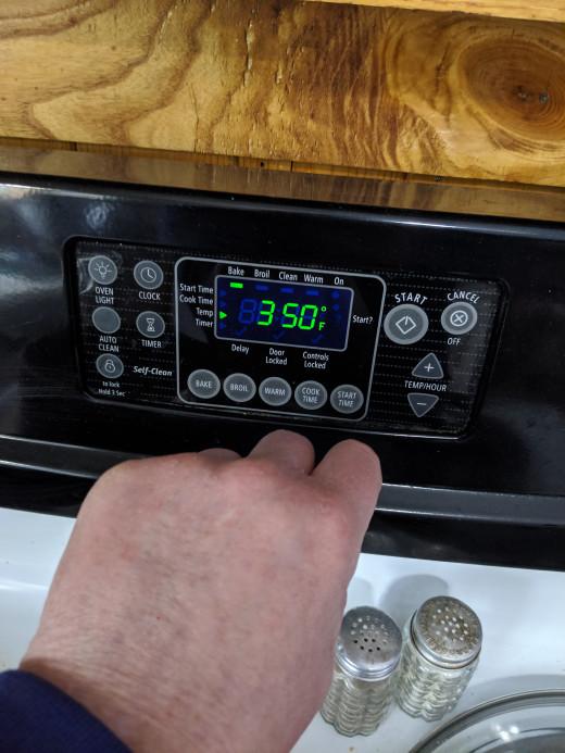 Start oven 350