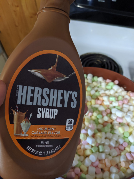 Add caramel syrup