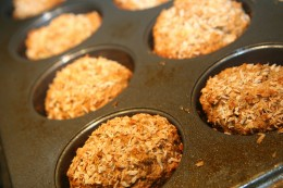 Banana-coconut muffins, courtesy of http://www.flickr.com/photos/gudlyf/3689535067/ under Creative Commons Attribution License