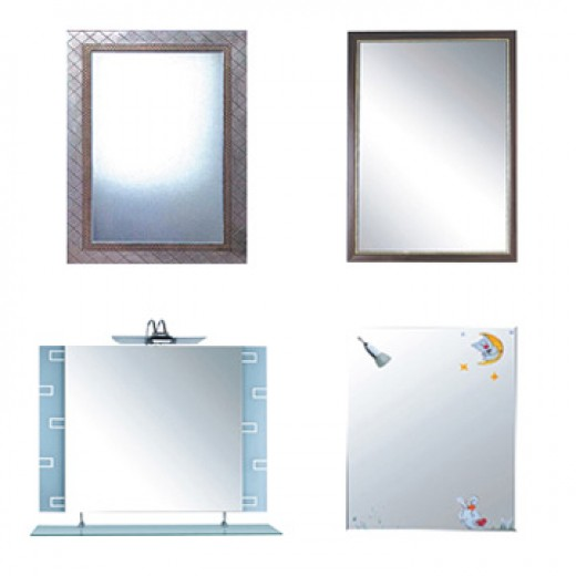 The infinite variety of bathroom mirrors