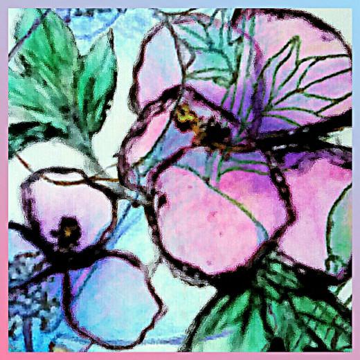 hibiscus doodle