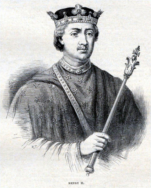 King Henry II.  Attribution: From Cassell's History of England 1902
