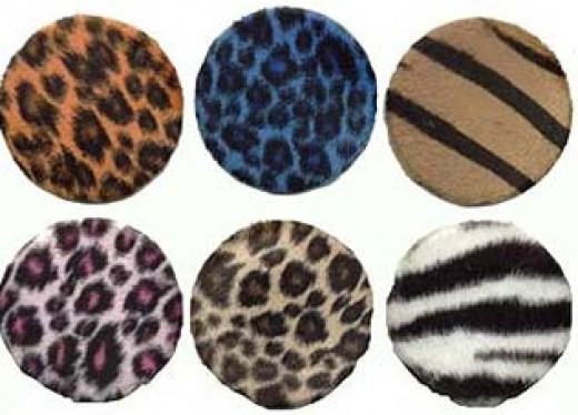 How about some genuine fake fur on your compact mirror?