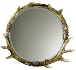 With built in stag horns, this is the perfect man cave mirror