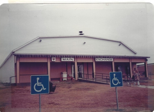 The new Brooks AFB post exchange in January, circa 1980.