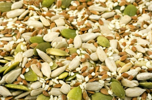 Nuts and Seeds for Magnesium, Tryptophan and  Omega3