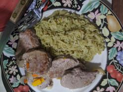 Teriyaki Steaks with a Rice Dish