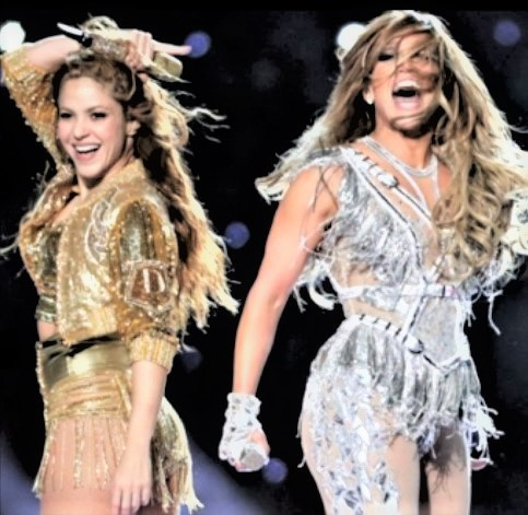 The Super Bowl Halftime Show  was entertaining. Shakira and Jennifer Lopez work great together.