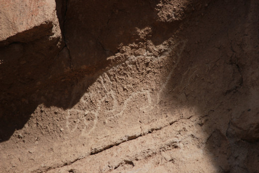 Petroglyph at Bandelier National Monument.
