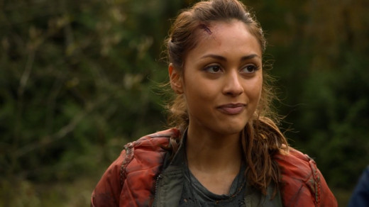 Raven Reyes, protrayed by Lindsey Morgan (The 100)