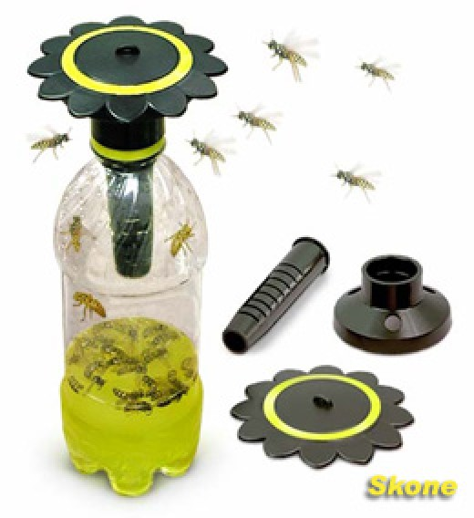If your yard or area has a lot of yellow jackets you can hang yellow jacket traps around the edges of your yard to capture and kill the yellow jackets. Just use great care when you remove and empty the traps.