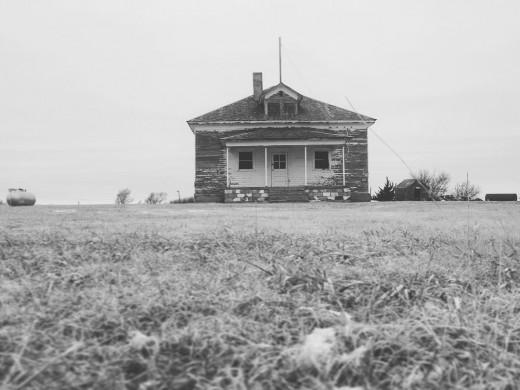 Winter scene: Nicodemus school.