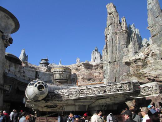 Millennium Falcon at Disneyland's Galaxy's Edge