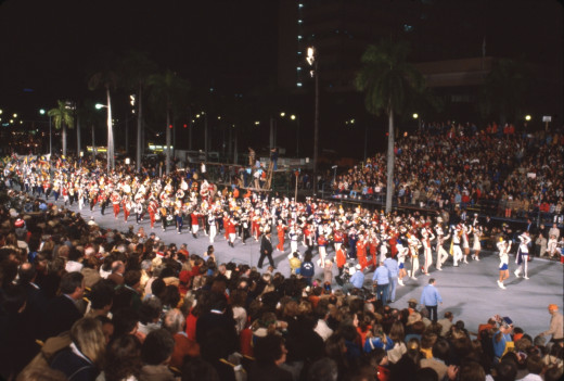 The former nighttime Orange Bowl Parade, now discontinued