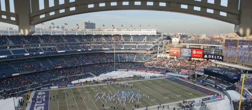 The Pinstripe Bowl as played at Yankee Stadium, a recent addition to an already overcrowded college football bowl season