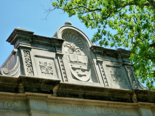 Ornamental Top of the Houston Heights Neighborhood Library