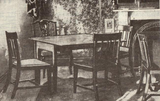 The commercial room, upstairs at the George & Dragon Hote, close to the small Town Hall on the High Street, Yarm-on-Tees in the North Riding of Yorkshire