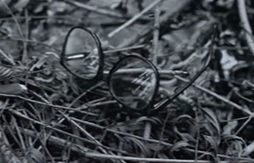 Glasses were found at a cave near the Girl Scout murders and collected as evidence